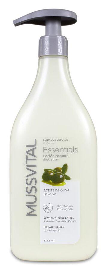 Mussvital Essentials Loción Corporal de Aceite de Oliva, 400 ml
