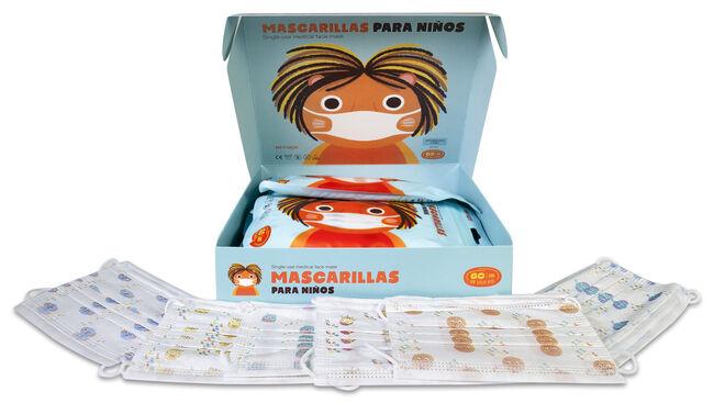 Mascarillas Quirúrgicas Infantiles TI 3 Capas, 60 Uds