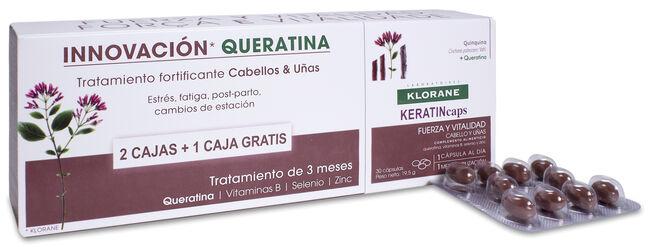 Klorane Keratincaps Cabello y Uñas, 3x 30 cápsulas