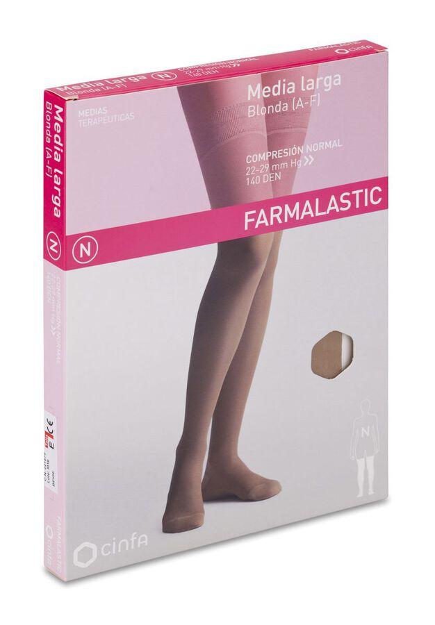 Farmalastic Media Larga de Compresión Normal Beige Extra Grande, 1 Par