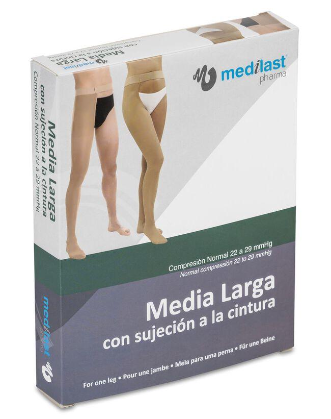 Medilast Media Larga Sujeción Cintura Pierna Derecha Beige Talla L, 1 Ud