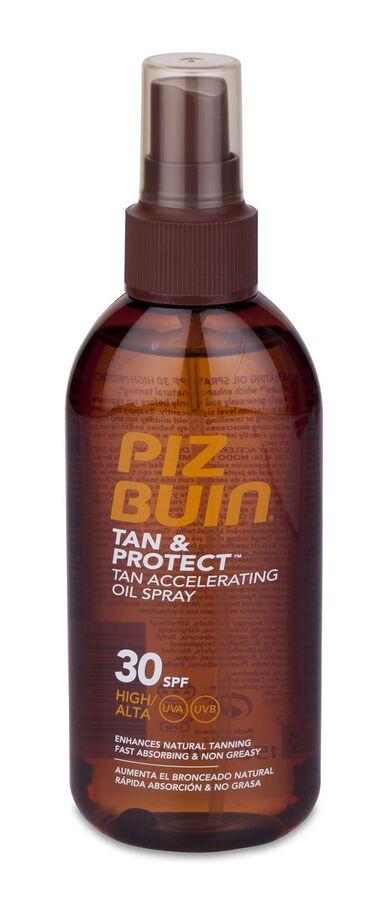 Piz Buin Tan & Protect Aceite en Spray Acelerador del Bronceado SPF 30, 150 ml