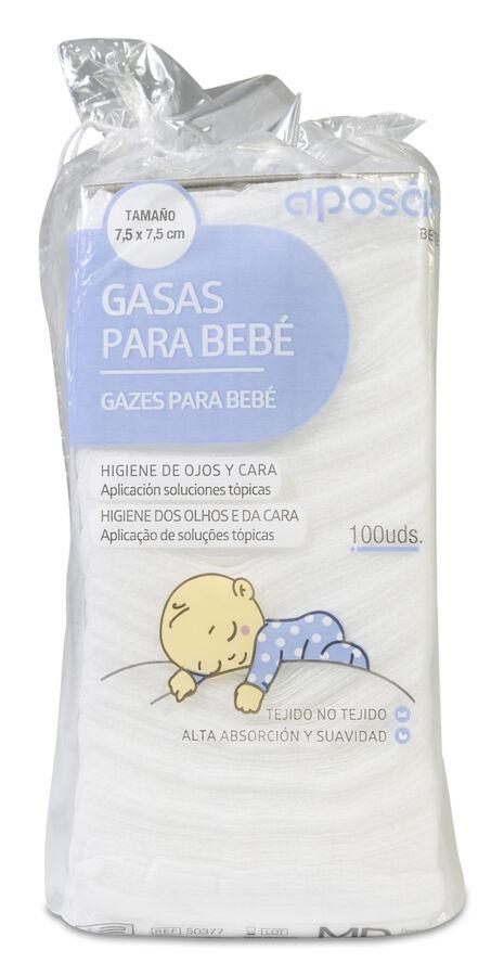 Aposán Gasas para Bebé, 100 Uds
