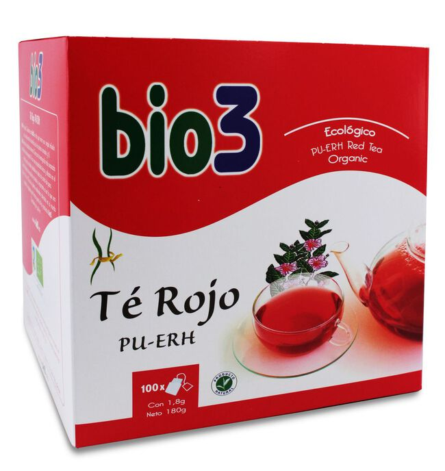 Bio3 Té Rojo Pu-erh, 100 Bolsas
