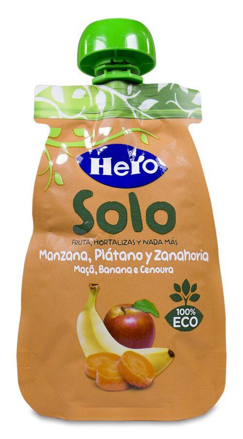 Hero Baby Bolsita Solo Manzana, Plátano y Zanahoria, 100 g image number null