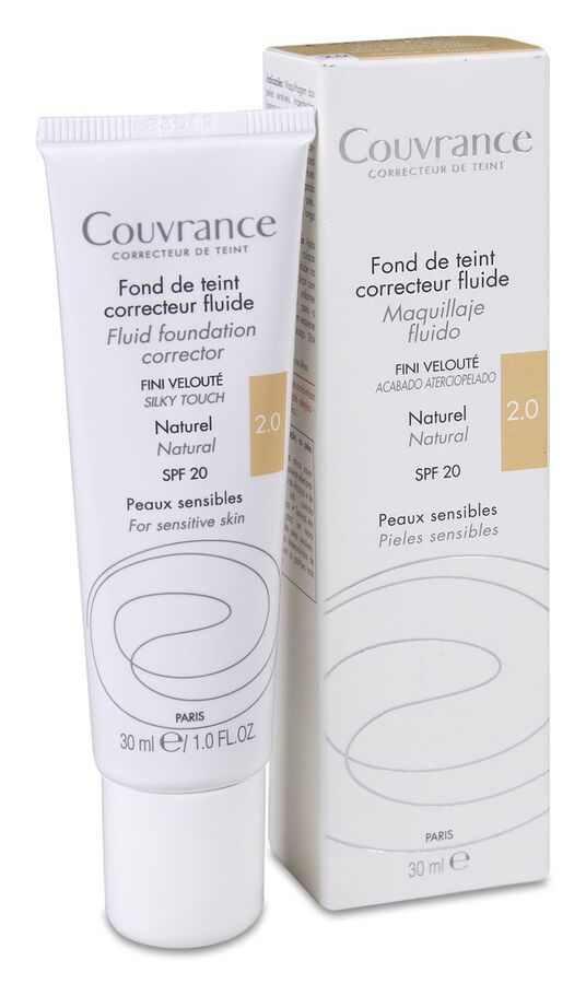 Avène Couvrance Maquillaje Fluido Color Natural SPF 20, 30 ml