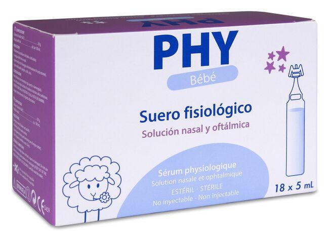 PHY Bebé Suero Fisiológico, 18 Monodosis