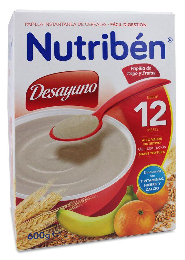 Nutribén Desayuno Papilla de Trigo y Fruta, 600 g