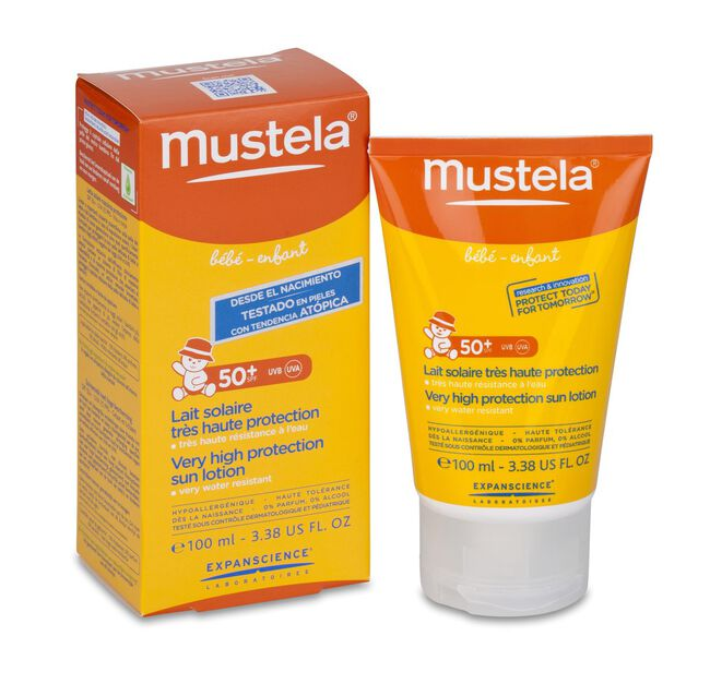 Mustela Leche Solar Infantil SPF 50+, 100 ml