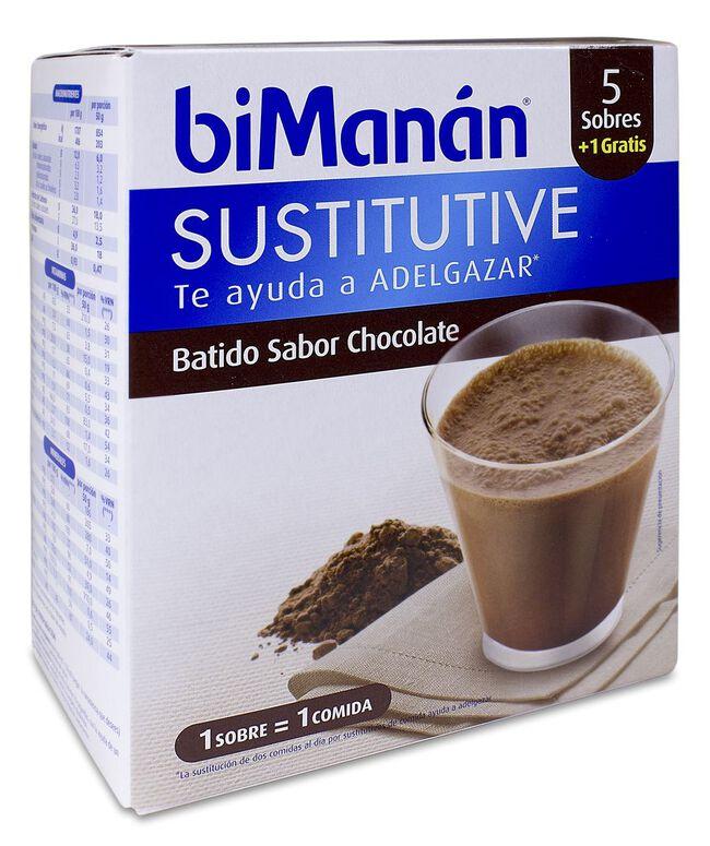 biManán Batido de Chocolate, 5 Uds