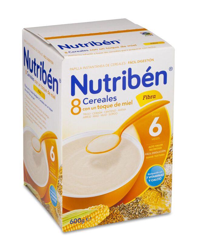 Nutribén 8 Cereales y Miel Fibra, 600 g