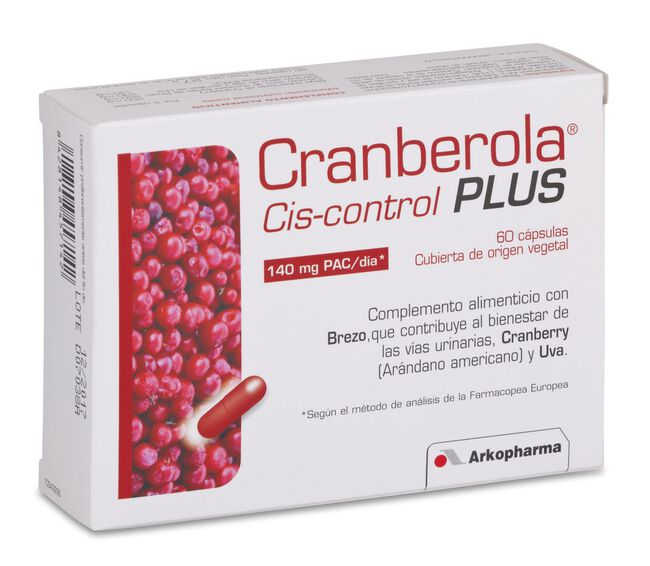 Arkopharma Cis-Control Cranberola Plus con Brezo, 60 Cápsulas