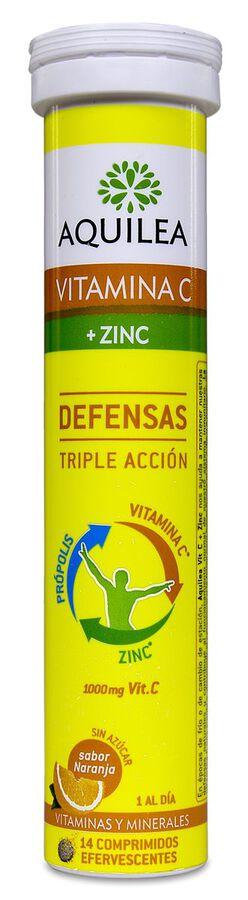 Aquilea Vitamina C+Zinc, 14 Comprimidos